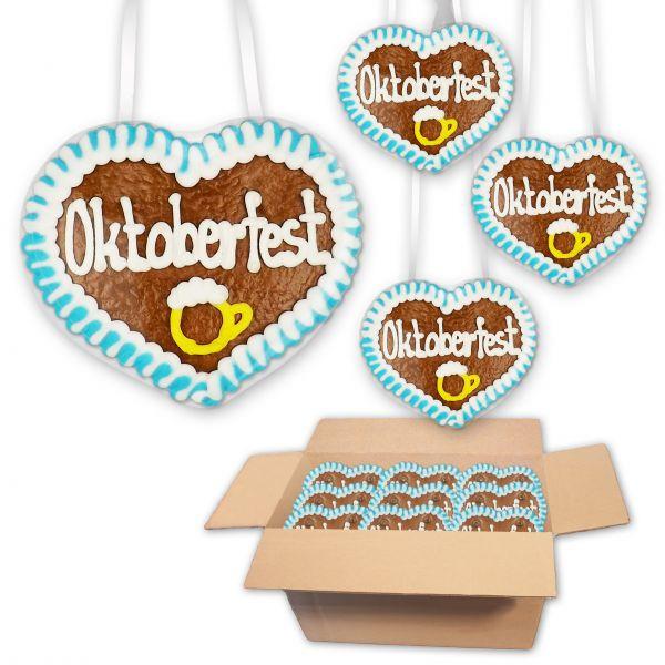 Lebkuchenherz 8cm - Oktoberfest - Design 2 - 30 Stück im Karton