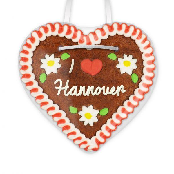 Lebkuchenherz, 12cm - I love Hannover