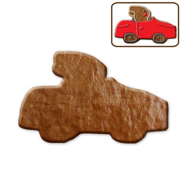 Lebkuchen Hase im Auto Rohling ohne Alles - 14cm