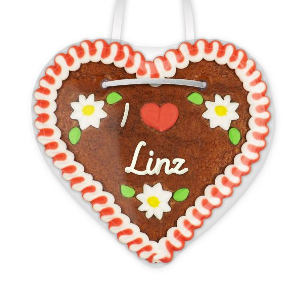 Lebkuchenherz, 12cm - I love Linz