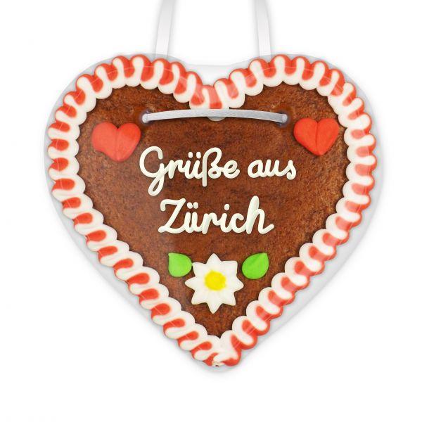 Lebkuchenherz, 12cm - Grüße aus Zürich