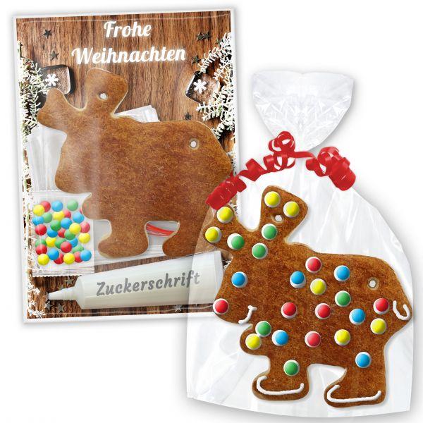 Lebkuchenelch Bastelset zum selbst Verzieren mit Anleitung - Weihnachten Edition