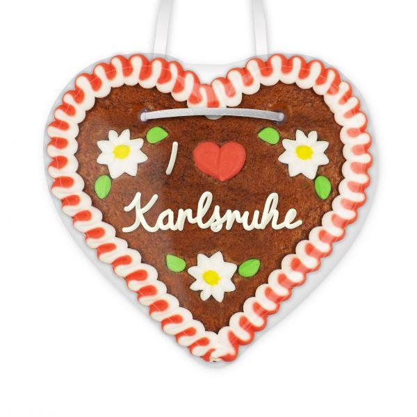 Lebkuchenherz, 12cm - I love Karlsruhe