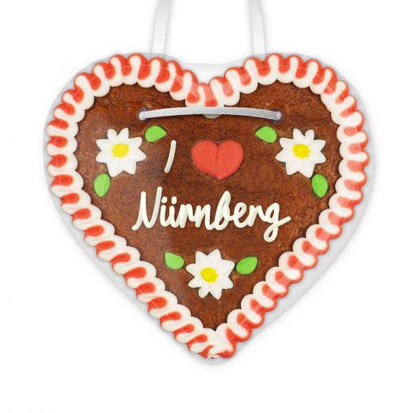 I love Nürnberg - Lebkuchenherz 12cm
