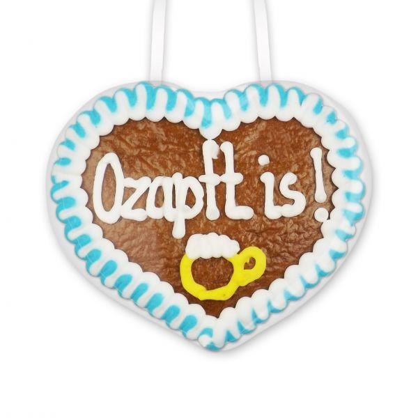 Lebkuchenherz 8cm - Ozapft is! - Design 2