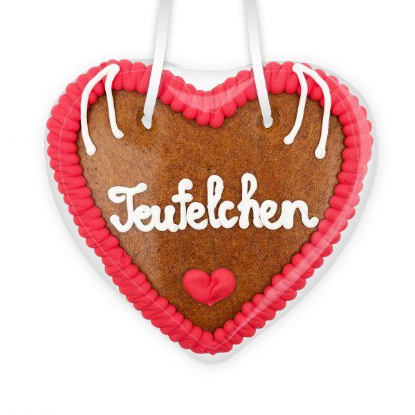 Lebkuchenherz 14cm - Teufelchen