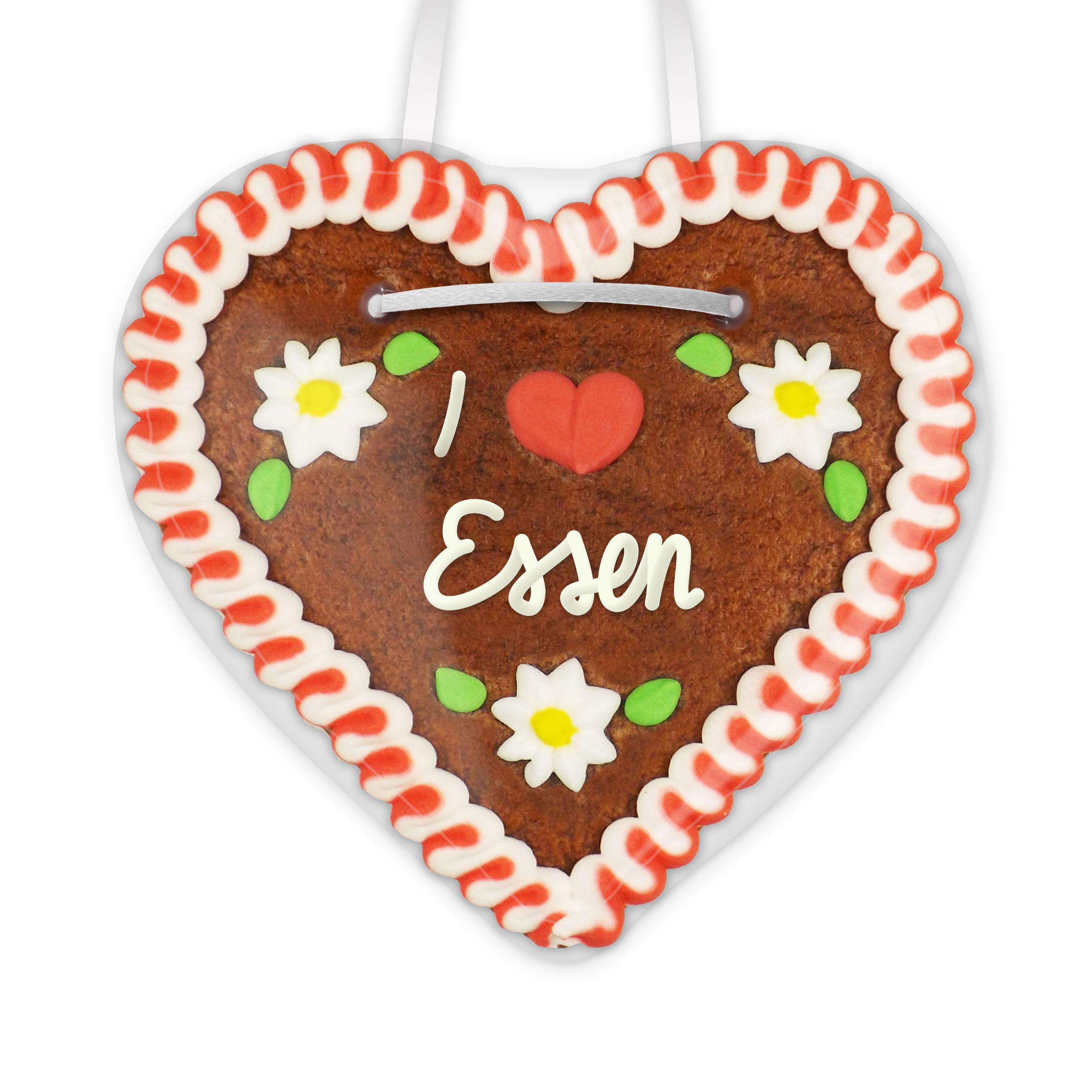 I love Essen - Lebkuchenherz 12cm   Lebkuchen-Welt