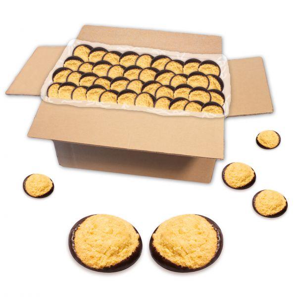 Schokoladen Butterkeks mit Streusel, zartbitter, lose Ware - 2 kg