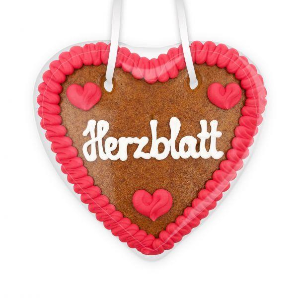 Lebkuchenherz 14cm - Herzblatt