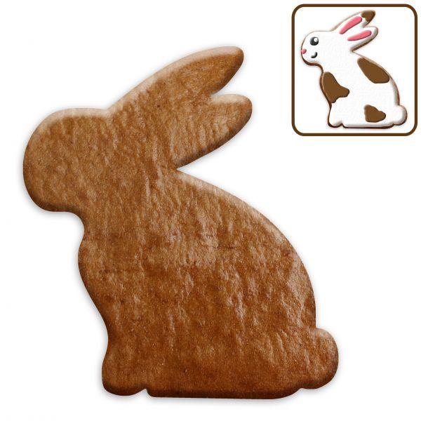 Lebkuchen Hase (sitzend/Seitansicht) Rohling ohne Alles - 15cm