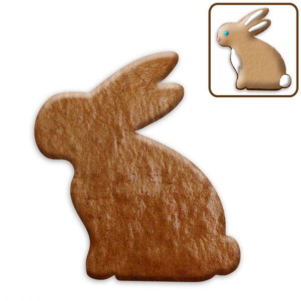 Lebkuchen Hase (sitzend/Seitansicht) Rohling ohne Alles - 12cm