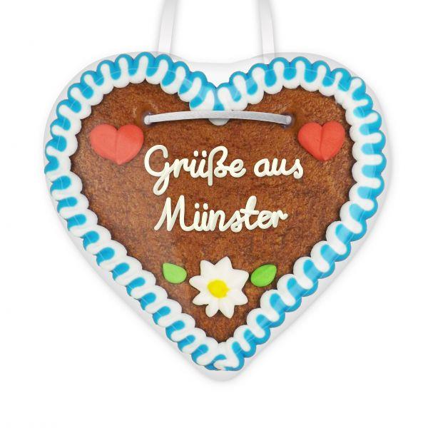 Lebkuchen Herz, 12cm - Grüße aus Münster