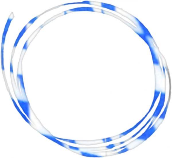 Umhängeband - Raute (blau-weiß) - 20m