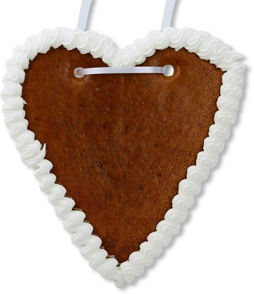 Lebkuchenherz Rohling - mit Rand - Weiß - 18cm