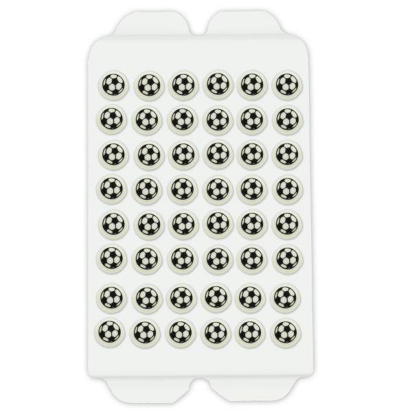 Zuckerdekor - Kleine Fußbälle - 48 Stück - ca. 9mm