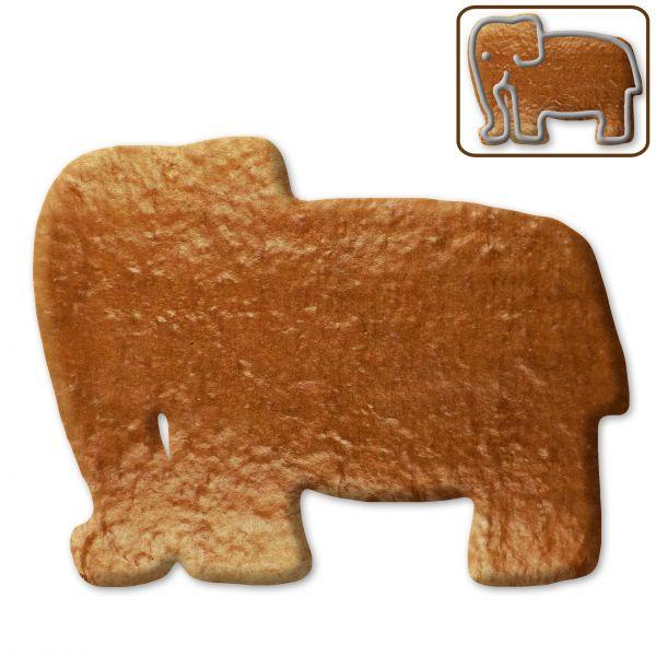 Lebkuchen Elefant Rohling ohne Alles - 12cm