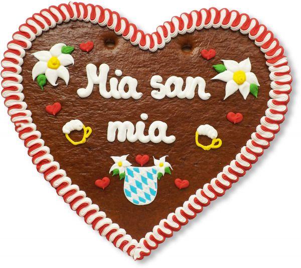 Lebkuchenherz 50cm - Mia san mia