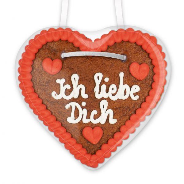 Lebkuchenherz 12cm - Ich liebe Dich