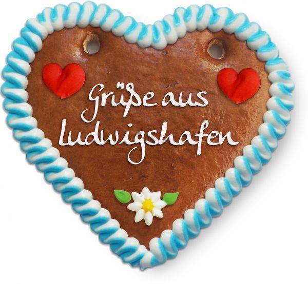 Lebkuchen Herz, 12cm - Grüße aus Ludwigshafen