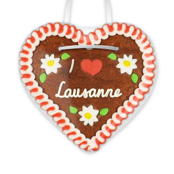 Lebkuchenherz, 12cm - I love Lausanne