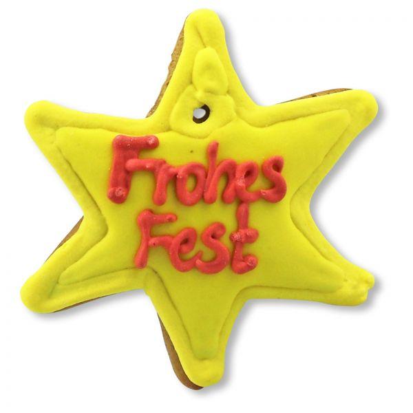 Mini Lebkuchen - Stern - Frohes Fest - ca. 8cm