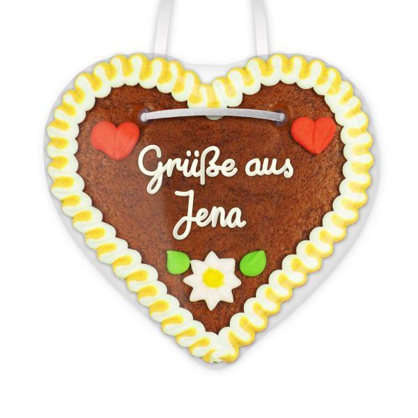 Lebkuchenherz, 12cm - Grüße aus Jena