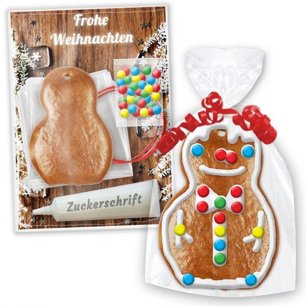 Lebkuchen Schneemann Bastel Set zum Selbst Gestalten - Weihnachten Edition