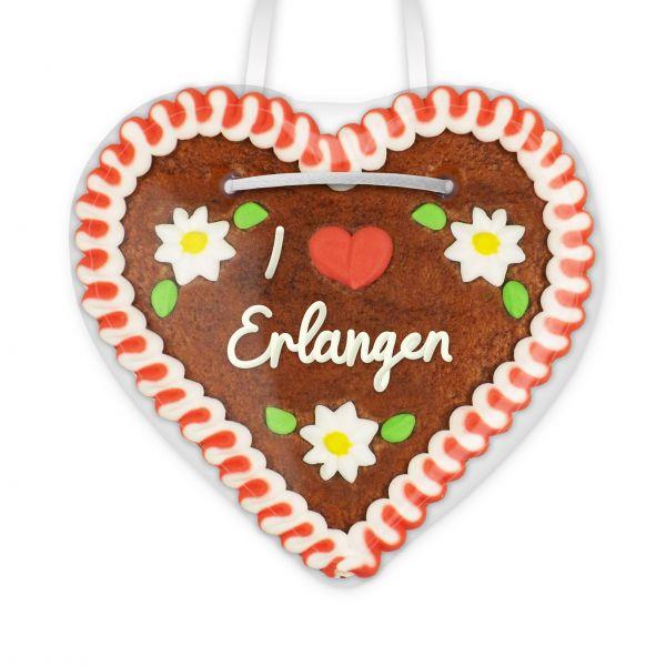 I love Erlangen - Lebkuchenherz 12cm