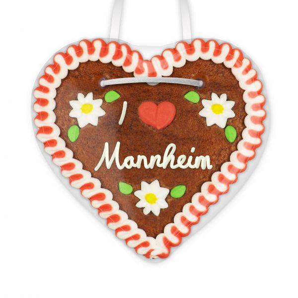 Lebkuchenherz, 12cm - I love Mannheim