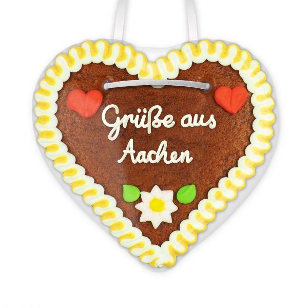 Lebkuchen Herz, 12cm - Grüße aus Aachen