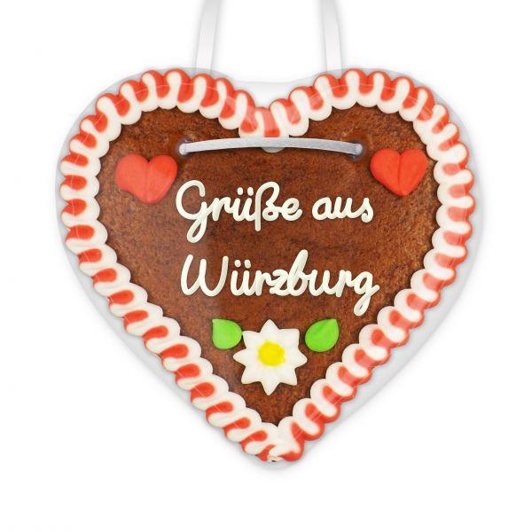 Lebkuchen Herz, 12cm - Grüße aus Würzburg