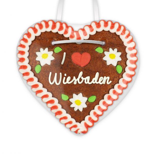 Lebkuchenherz, 12cm - I love Wiesbaden