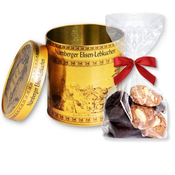 Elisendose - Stadt Nürnberg - Gold - mit Mini Lebkuchen 150g