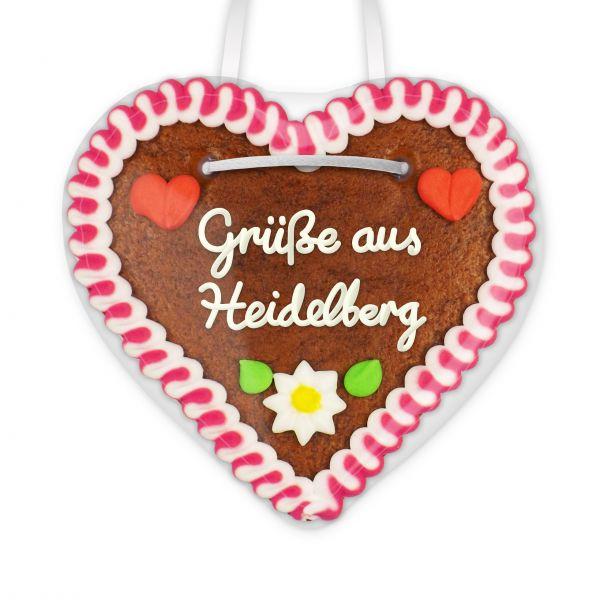 Lebkuchenherz, 12cm - Grüße aus Heidelberg