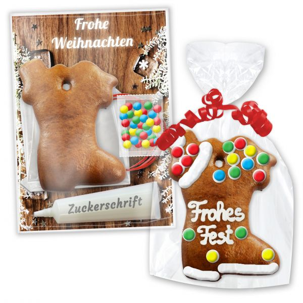 Lebkuchen Nikolausstiefel selbst Gestaltungs-Bastelset - Weihnachten Edition