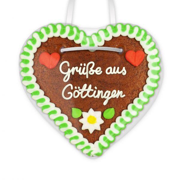 Lebkuchen Herz, 12cm - Grüße aus Göttingen