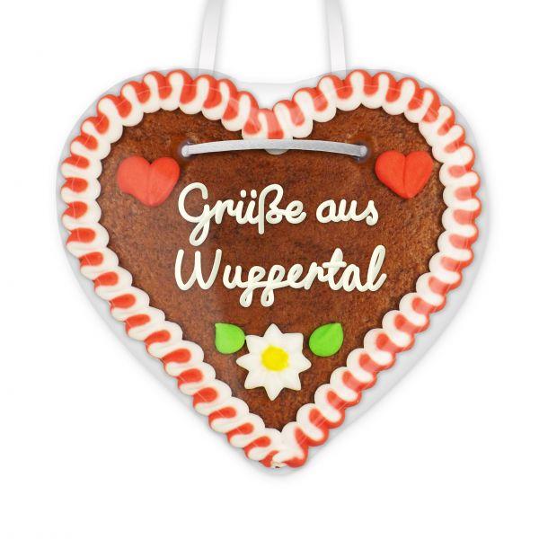 Lebkuchen Herz, 12cm - Grüße aus Wuppertal