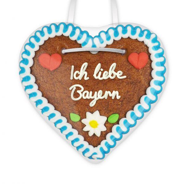 Lebkuchen Herz, 12cm - Ich liebe Bayern
