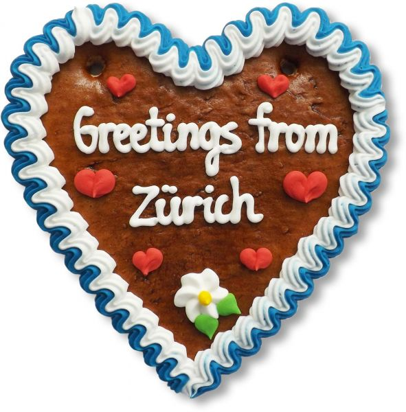 Lebkuchen Herz, 16cm - Greetings from Zürich
