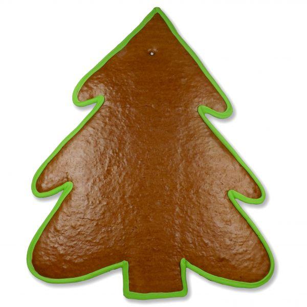 Lebkuchen Rohlinge Weihnachtsbaum - mit Rand - 43cm