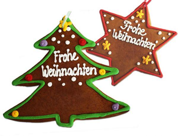 Lebkuchen Weihnachtsstern - ca. Ø 20cm - Frohe Weihnachten