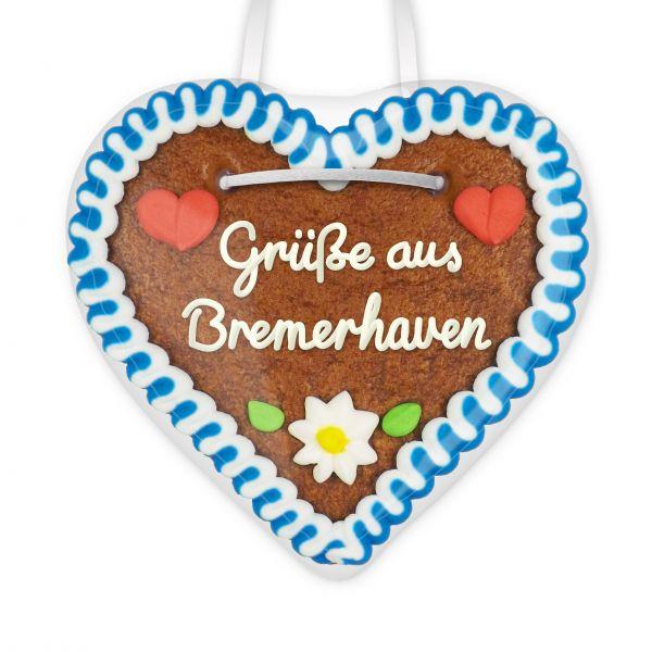 Lebkuchenherz, 12cm - Grüße aus Bremerhaven