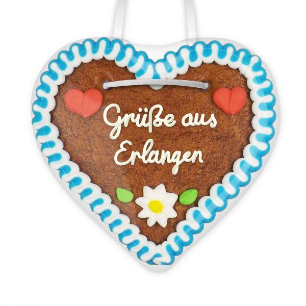 Lebkuchen Herz, 12cm - Grüße aus Erlangen