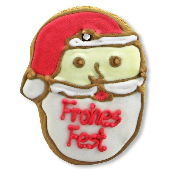Mini Lebkuchen - Weihnachtsmann - Frohes Fest - ca. 8cm