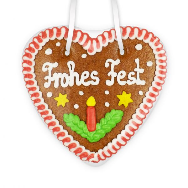 Lebkuchenherz 14cm - Frohes Fest