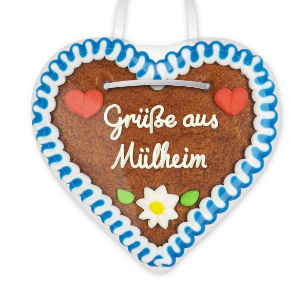 Lebkuchen Herz, 12cm - Grüße aus Mülheim an der Ruhr