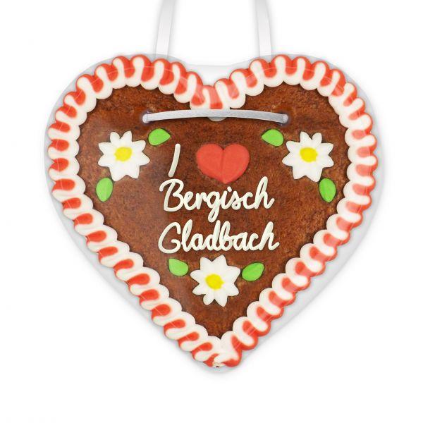 I love Bergisch Gladbach - Lebkuchenherz 12cm