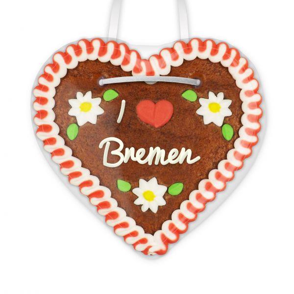 I love Bremen - Lebkuchenherz 12cm