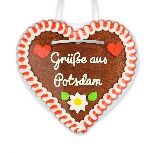 Lebkuchen Herz, 12cm - Grüße aus Potsdam