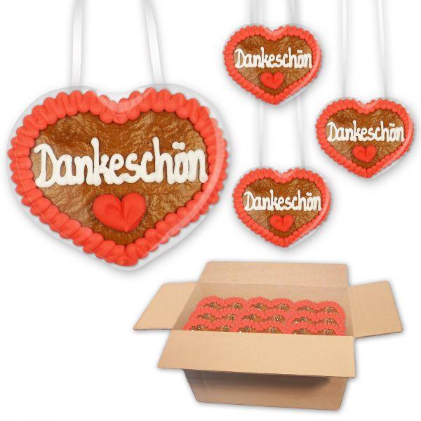 Lebkuchenherz 8cm - Dankeschön - 30 Stück im Karton